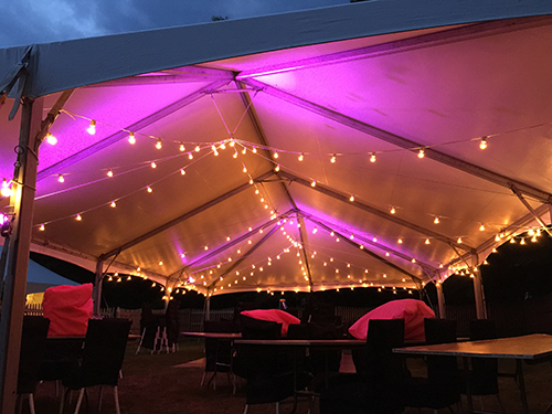 Pink Uplights in Wedding Tent Nahant MA & Marblehead Tent::Event u0026 Party Rentals Gallery Page: Serving ...