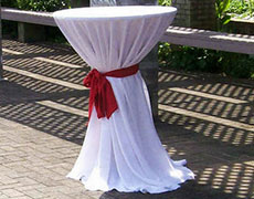 Cocktail Table Sashes Half Length Rectangle Tablecloth